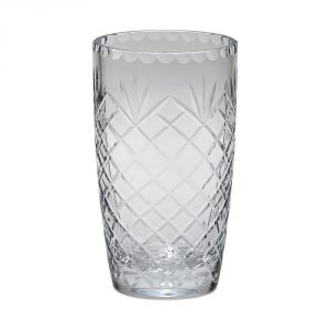 optic crystal medallion flower vase