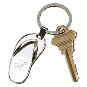 flip flop keychain mongrammed